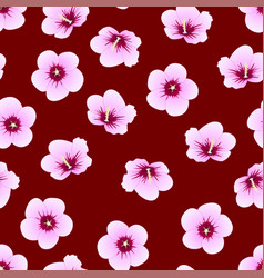 hibiscus syriacus - rose of sharon on indigo red vector image