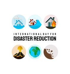 International day for disaster reduction vector