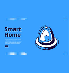 landing page smart home with flasher icon vector image