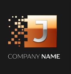 Letter j logo symbol in the colorful square vector