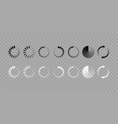 load icon isolated set vector image