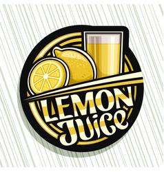 Logo for lemon juice vector