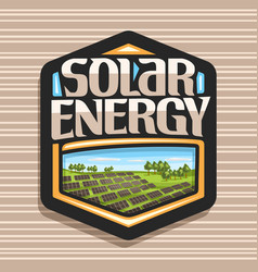 logo for solar energy vector image