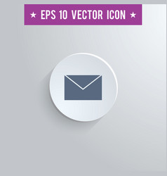 Mail envelope symbol icon on gray background vector