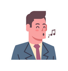 male singing emotion icon isolated avatar man vector image