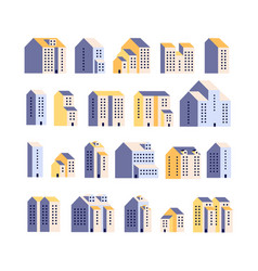 minimal apartment houses residential buildings vector image