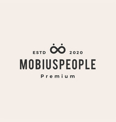 mobius people hipster vintage logo icon vector image
