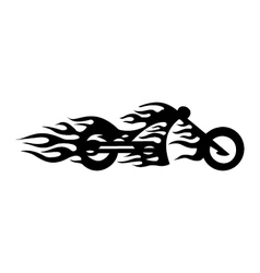 motorcycle flame vector image