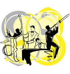 musicians play classical music vector image
