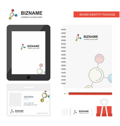 Networking business logo tab app diary pvc vector