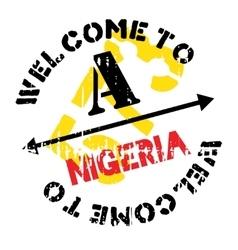 Nigeria stamp rubber grunge vector