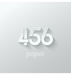 number four 4 five 5 six 6 logo paper set vector image