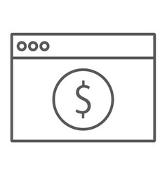 online banking thin line icon finance and banking vector image