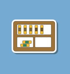 paper sticker on stylish background folder shelf vector image