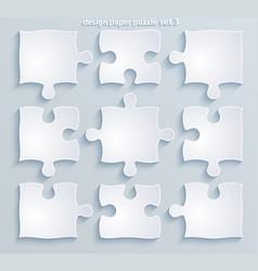 parts colorful puzzles set 8 4 10 pieces vector image