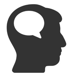 Person Thinking Flat Icon vector