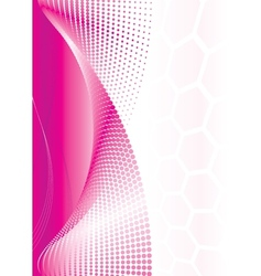 Pink Abstract Wave vector image