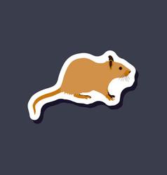 Rat paper sticker on stylish background vector