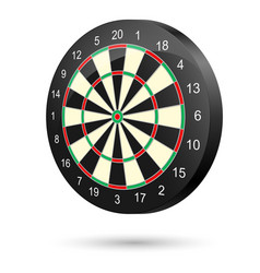 realistic dartboard on white background for vector image