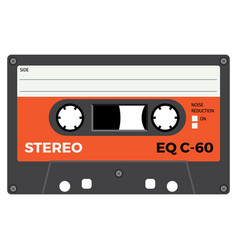 retro audio cassette vector image