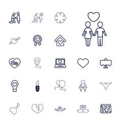 Romantic icons vector