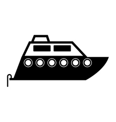 Sailboat icon over white background vector