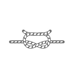Sailing rope knot isolated icon vector