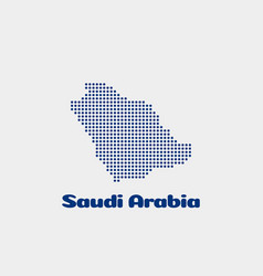 saudi arabia dot map concept for networking vector image