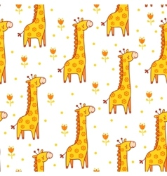 Seamless with giraffes vector
