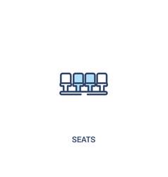 Seats concept 2 colored icon simple line element vector