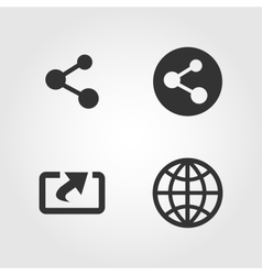 Share icons set flat design vector