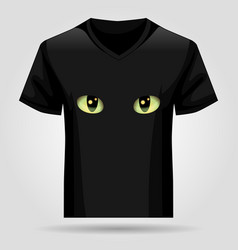 shirt template with cats eyes vector image