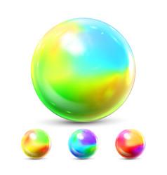 Sphere ball orb shining glow crystal vector