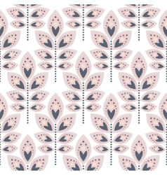 Stylized leaf pale pink seamless pattern vector