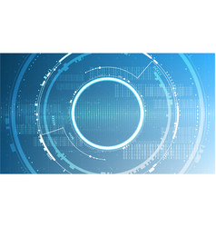 technology futuristic abstract system cyberspace vector image