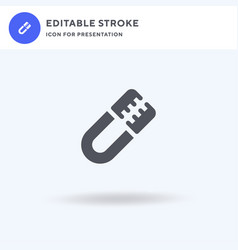Tongs icon filled flat sign solid vector