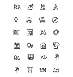 Travel Line Icons 3 vector