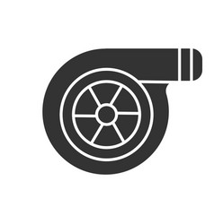 Turbocharger glyph icon vector