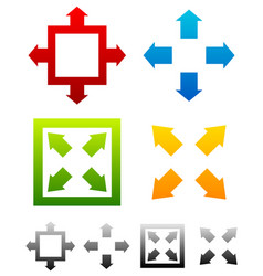 Various resize maximize symbols with colors full vector