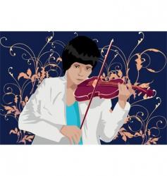 Violin man solo vector
