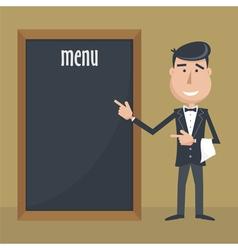 Waiter menu vector
