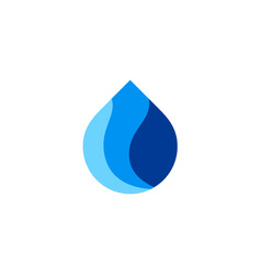 water asbtract droplet logo vector image