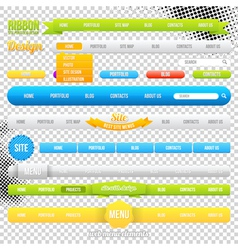 Web Menu Element Templates vector image