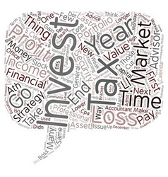 Year End Investment Ideas and Tax Strategies text vector image