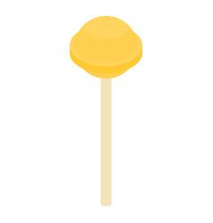 yellow lollipop icon isometric style vector image