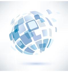 abstract globe symbol vector image vector image
