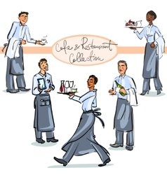 Cafe and Restaurant Collection - hand drawn scenes vector image vector image