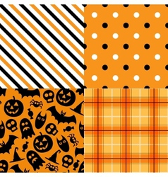 Halloween pattern pack vector image