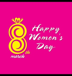 happy womens day greeting design vector image vector image