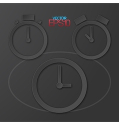 Modern flat design watches with drop shadows vector image